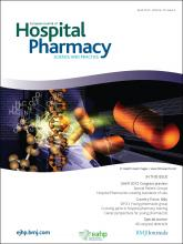 European Journal of Hospital Pharmacy: Science and Practice: 19 (2)