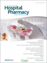 European Journal of Hospital Pharmacy: Science and Practice: 19 (3)