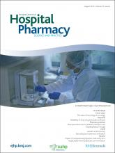 European Journal of Hospital Pharmacy: Science and Practice: 19 (4)