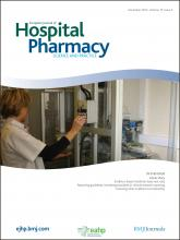European Journal of Hospital Pharmacy: Science and Practice: 19 (6)