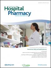 European Journal of Hospital Pharmacy: Science and Practice: 20 (2)