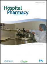 European Journal of Hospital Pharmacy: Science and Practice: 20 (3)
