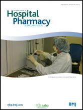 European Journal of Hospital Pharmacy: Science and Practice: 20 (4)