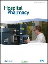 European Journal of Hospital Pharmacy: Science and Practice: 20 (6)