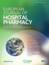 European Journal of Hospital Pharmacy: Science and Practice: 21 (2)
