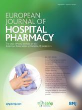 European Journal of Hospital Pharmacy: 21 (4)