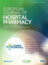 European Journal of Hospital Pharmacy: 21 (5)