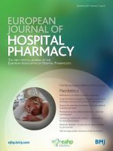 European Journal of Hospital Pharmacy: 21 (6)