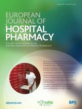 European Journal of Hospital Pharmacy: 22 (1)