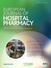 European Journal of Hospital Pharmacy: 22 (3)