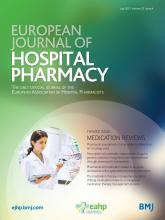 European Journal of Hospital Pharmacy: 22 (4)