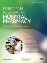 European Journal of Hospital Pharmacy: 22 (5)