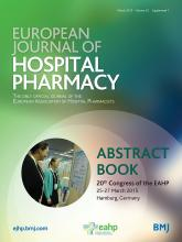 European Journal of Hospital Pharmacy: 22 (Suppl 1)