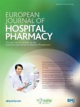 European Journal of Hospital Pharmacy: 23 (1)