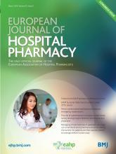 European Journal of Hospital Pharmacy: 23 (2)