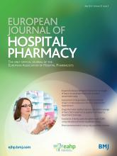 European Journal of Hospital Pharmacy: 23 (3)