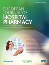 European Journal of Hospital Pharmacy: 23 (3)