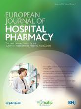 European Journal of Hospital Pharmacy: 23 (5)