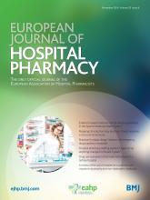 European Journal of Hospital Pharmacy: 23 (6)
