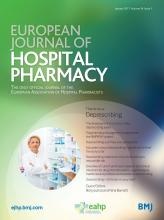 European Journal of Hospital Pharmacy: 24 (1)