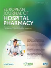 European Journal of Hospital Pharmacy: 24 (2)