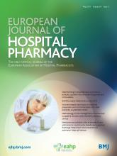European Journal of Hospital Pharmacy: 24 (3)
