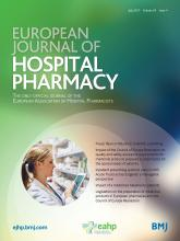 European Journal of Hospital Pharmacy: 24 (4)