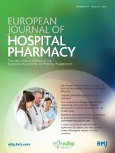 European Journal of Hospital Pharmacy: 24 (5)