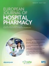European Journal of Hospital Pharmacy: 24 (6)