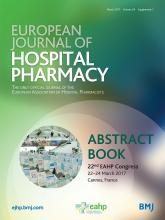 European Journal of Hospital Pharmacy: 24 (Suppl 1)