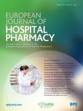 European Journal of Hospital Pharmacy: 25 (1)