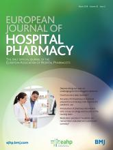 European Journal of Hospital Pharmacy: 25 (2)