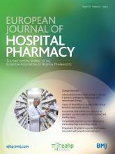 European Journal of Hospital Pharmacy: 25 (3)
