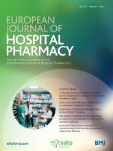 European Journal of Hospital Pharmacy: 25 (4)