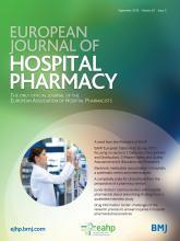 European Journal of Hospital Pharmacy: 25 (5)