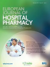 European Journal of Hospital Pharmacy: 25 (6)