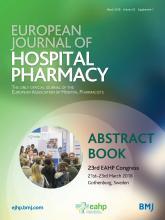 European Journal of Hospital Pharmacy: 25 (Suppl 1)