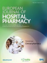 European Journal of Hospital Pharmacy: 25 (e1)