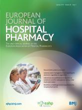 European Journal of Hospital Pharmacy: 26 (1)