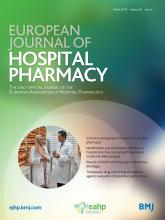 European Journal of Hospital Pharmacy: 26 (2)