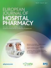 European Journal of Hospital Pharmacy: 26 (3)