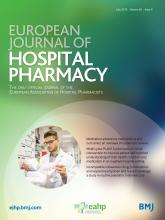 European Journal of Hospital Pharmacy: 26 (4)
