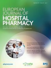 European Journal of Hospital Pharmacy: 26 (5)
