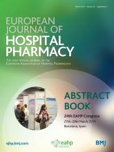 European Journal of Hospital Pharmacy: 26 (Suppl 1)