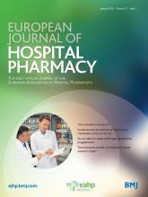 European Journal of Hospital Pharmacy: 27 (1)