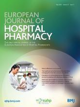 European Journal of Hospital Pharmacy: 27 (3)