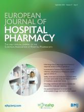 European Journal of Hospital Pharmacy: 27 (5)