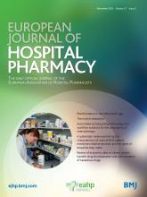 European Journal of Hospital Pharmacy: 27 (6)