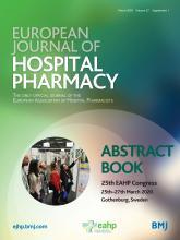 European Journal of Hospital Pharmacy: 27 (Suppl 1)