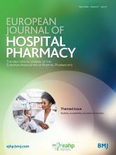 European Journal of Hospital Pharmacy: 27 (e1)
